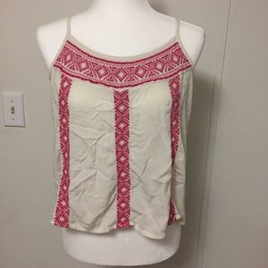 Red and white camisole